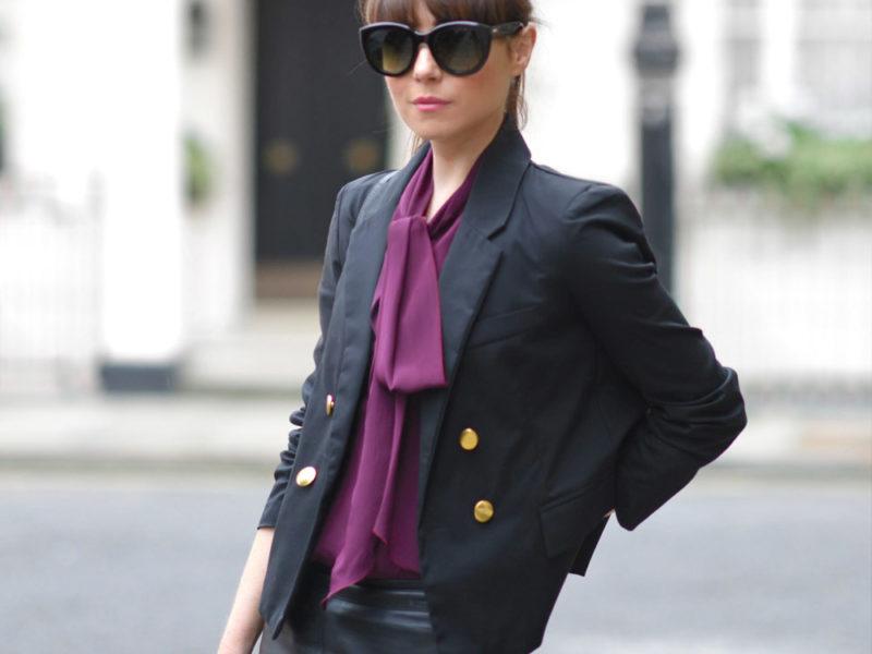 purple street outfit ideas