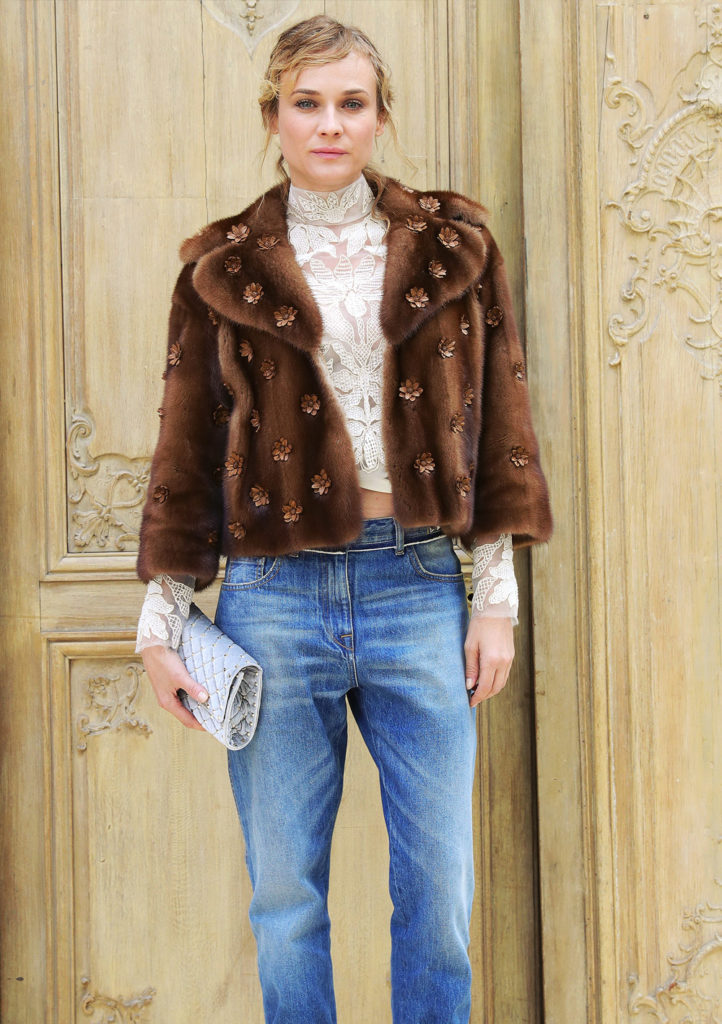 Diane Kruger cosy coatsoutfit