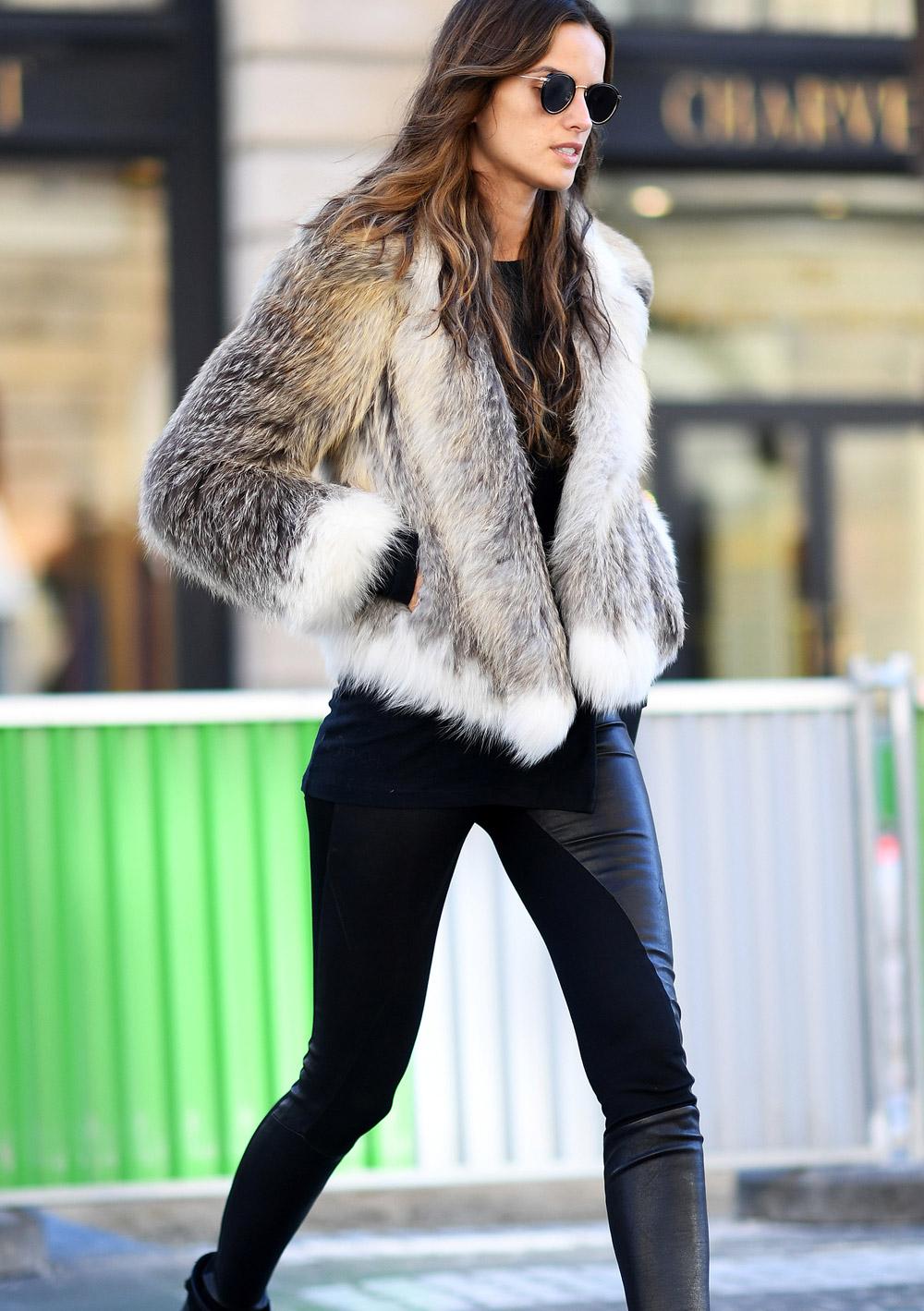 Izabel Goluart cosy coats outfit