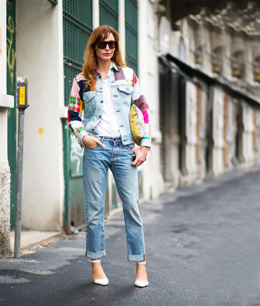 Patchwork jacket outfit ideas