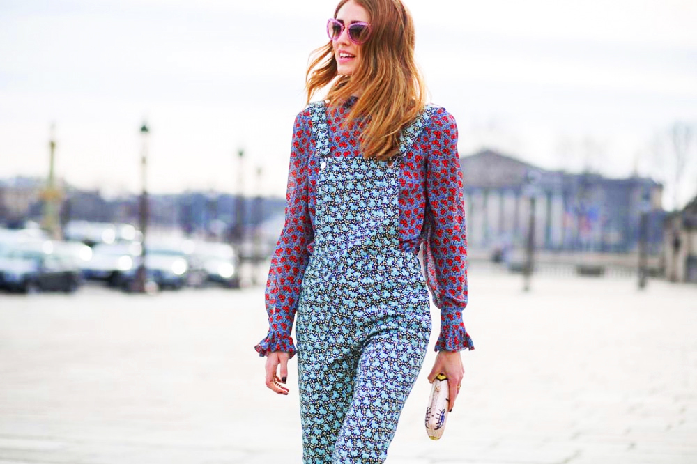 Printed jumpsuit outfit