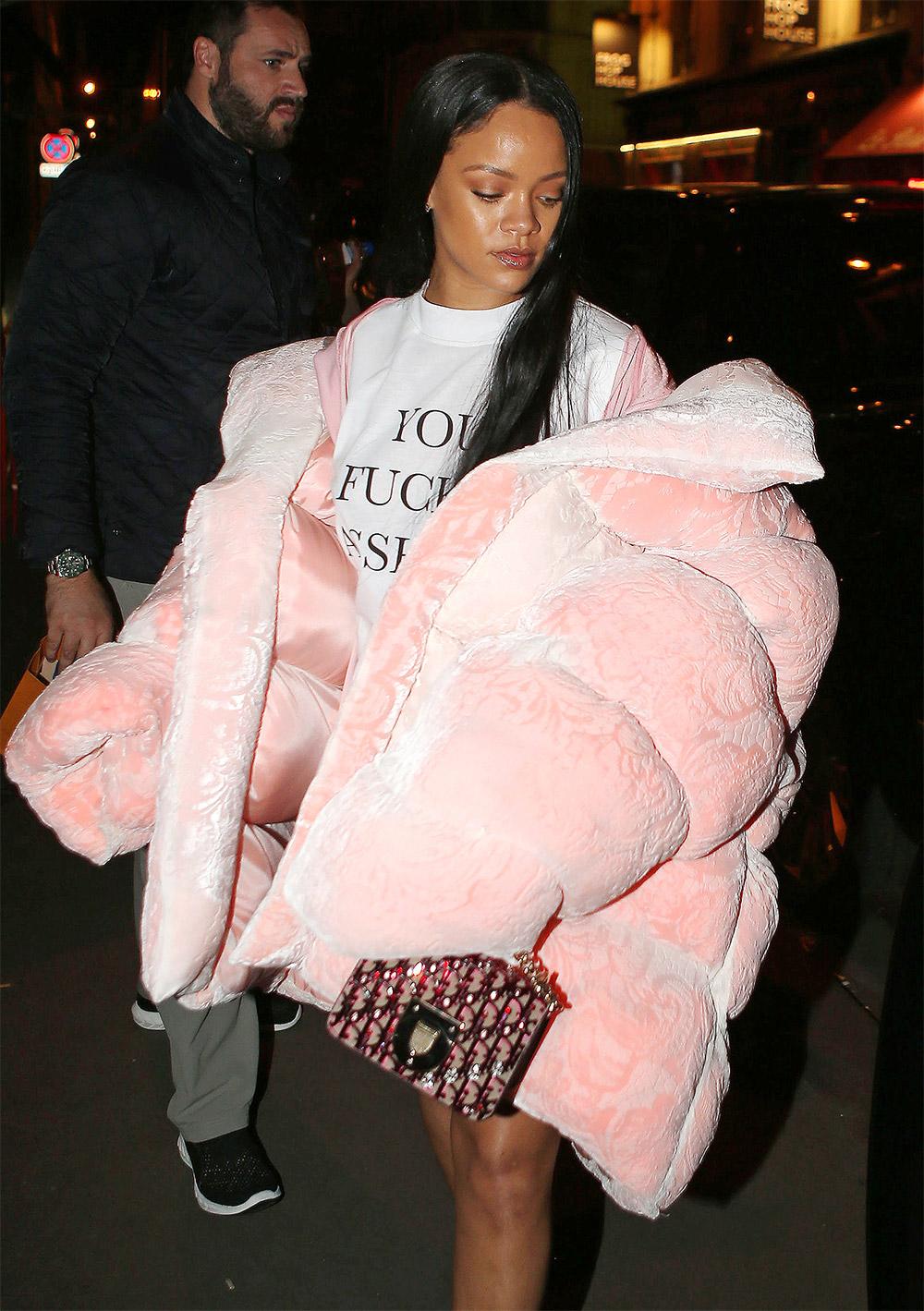 Rihanna cosy coats outfit