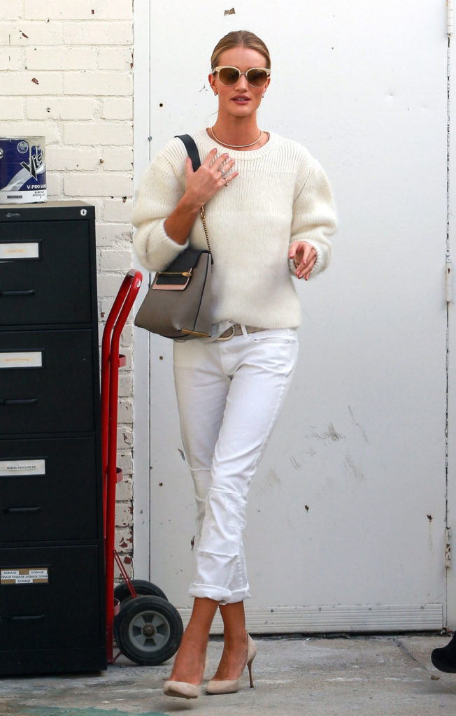 rosie huntington spring outfit