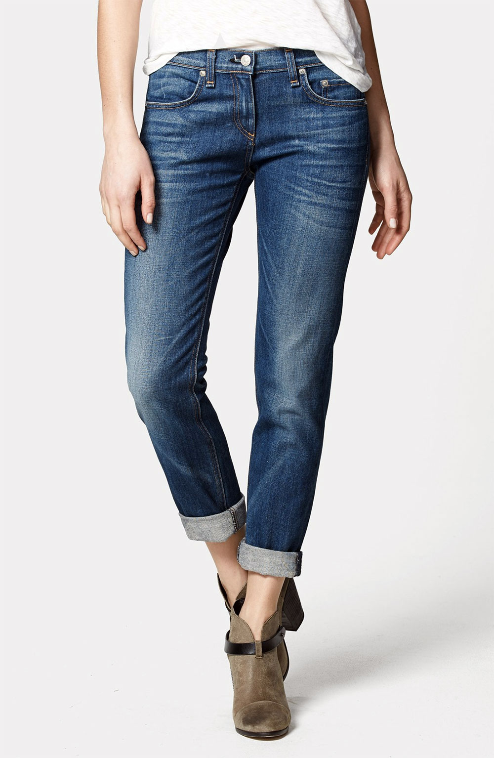 cropped fitted jeans
