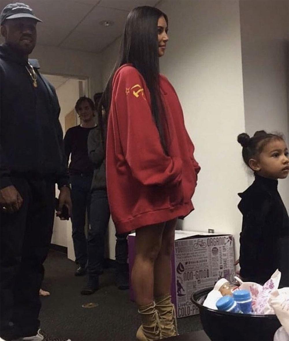 kardashian oversize sweatshirt oufit