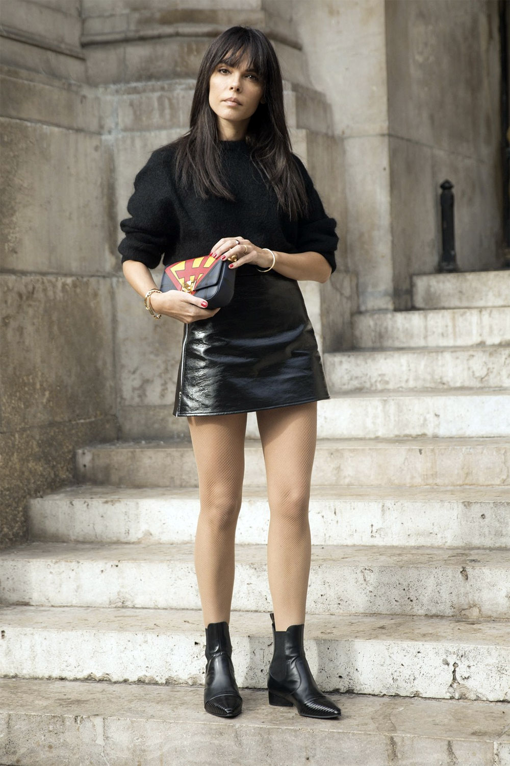 mini skirt daily outfit