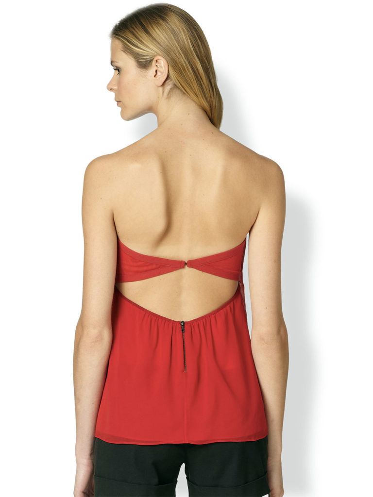 strapless top daily outfit