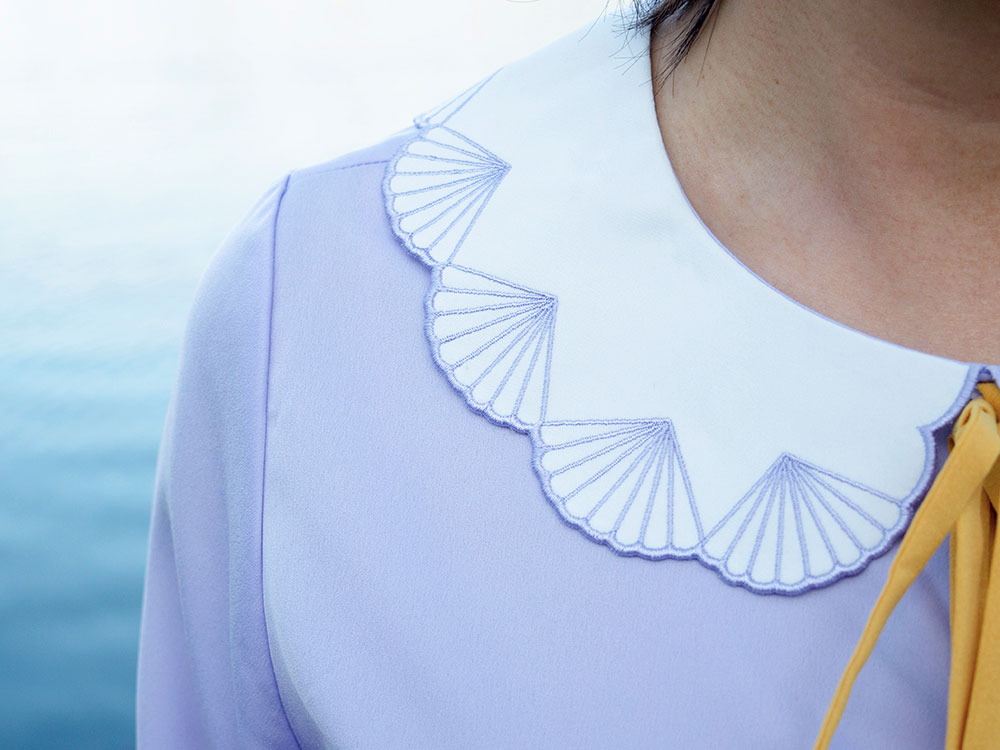 white neck outfit ideas