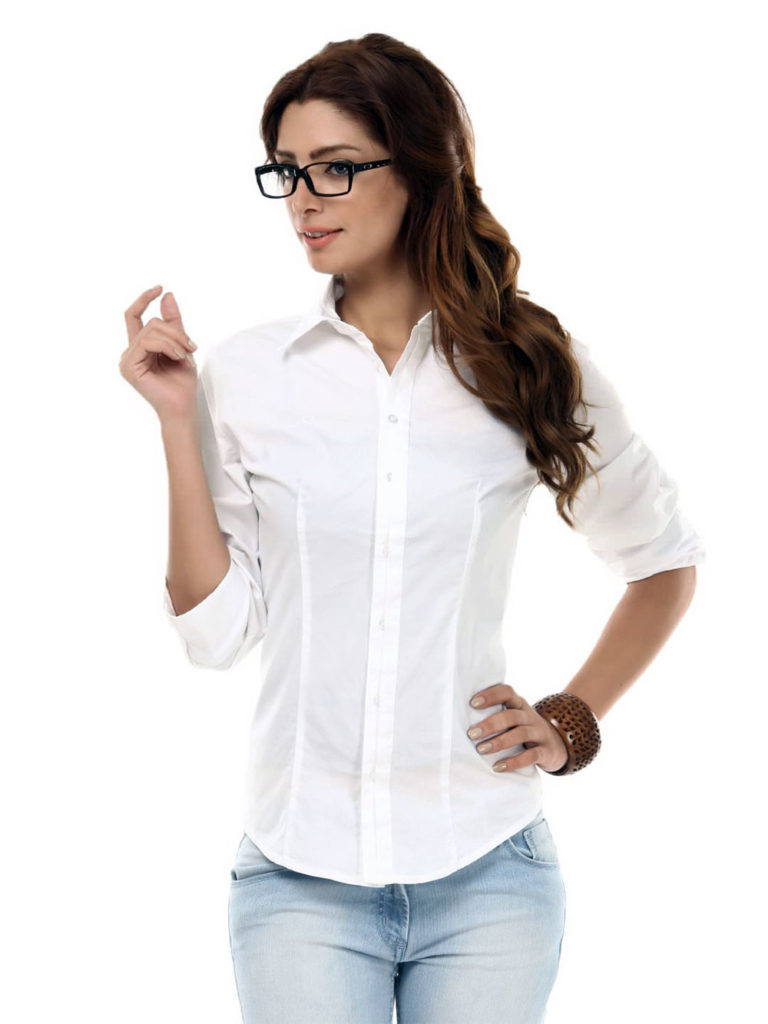 white shirt daily outfit