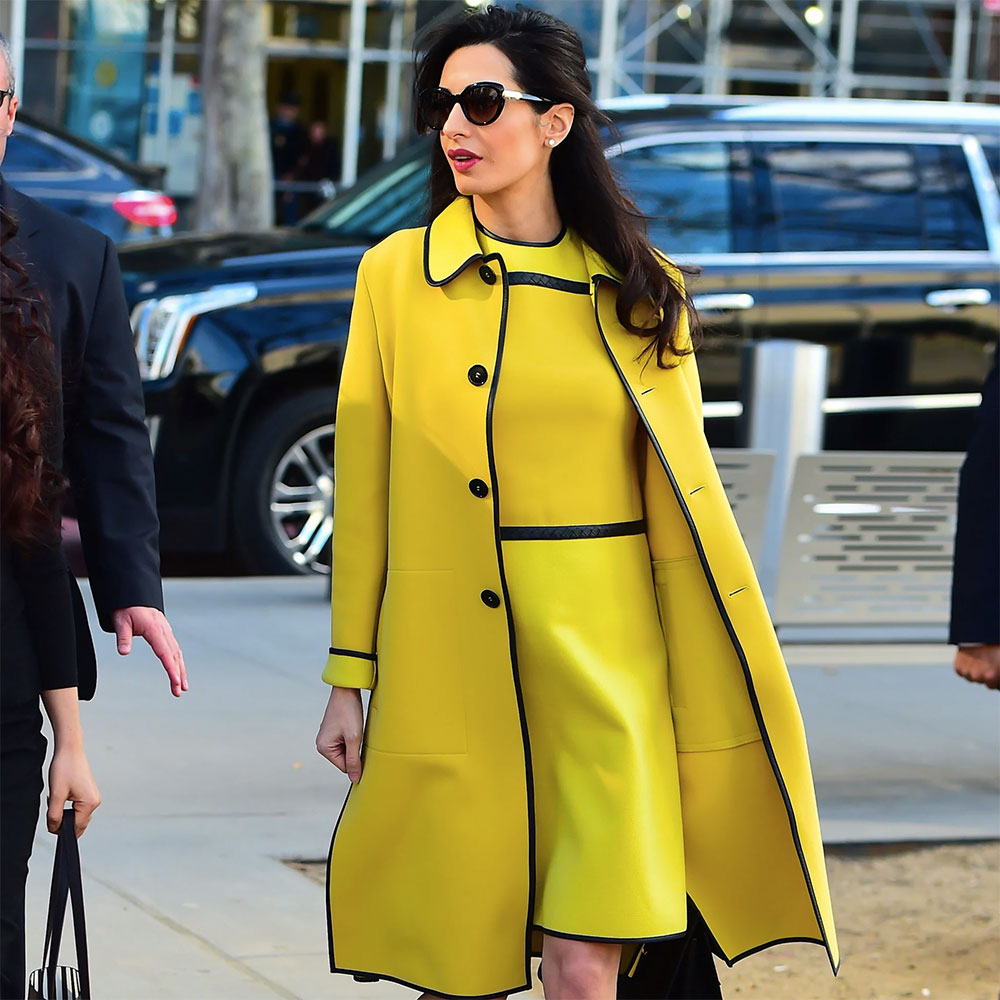 amal clooney yellow outfit