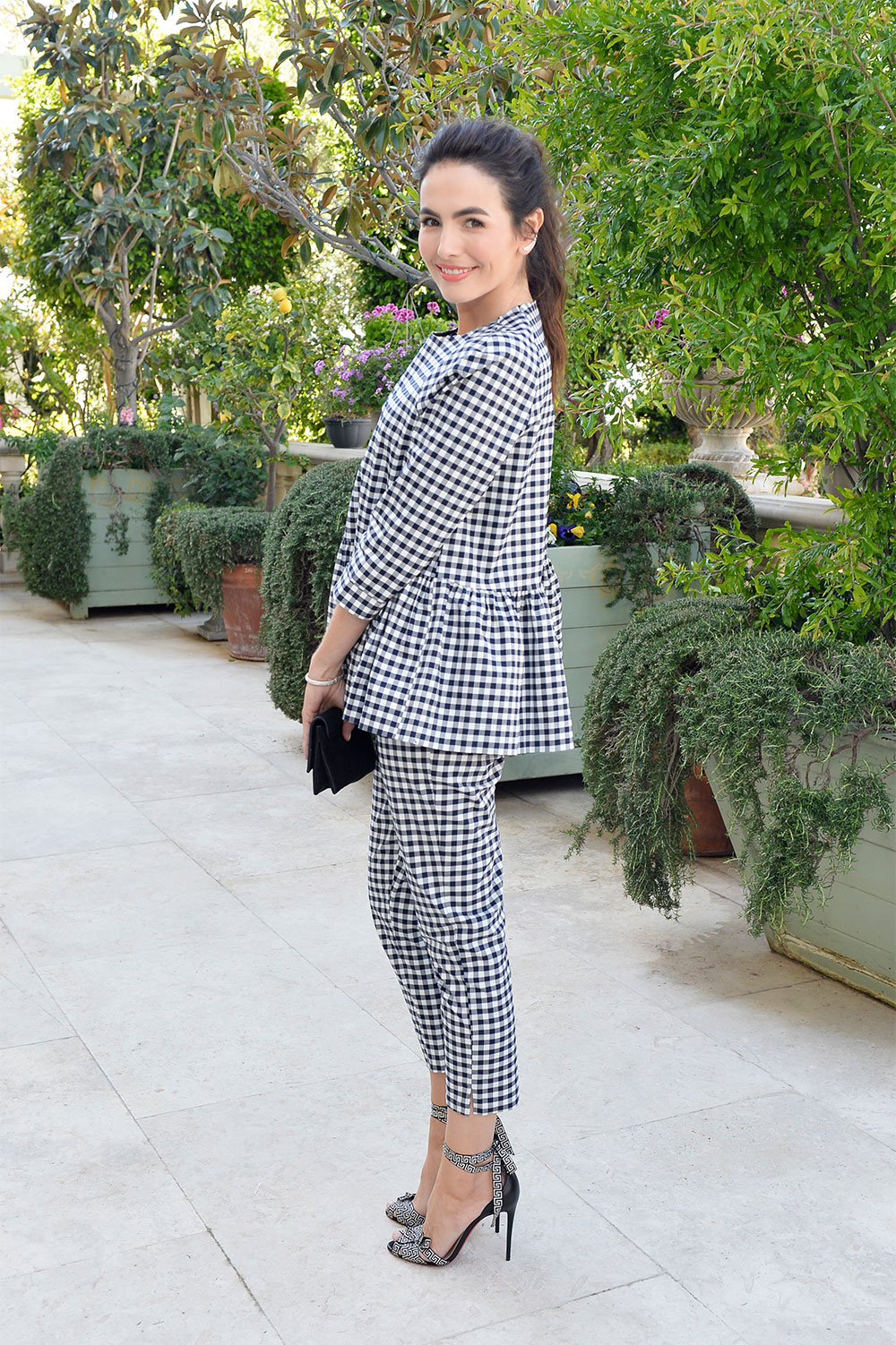 camilla belle gingham outfit
