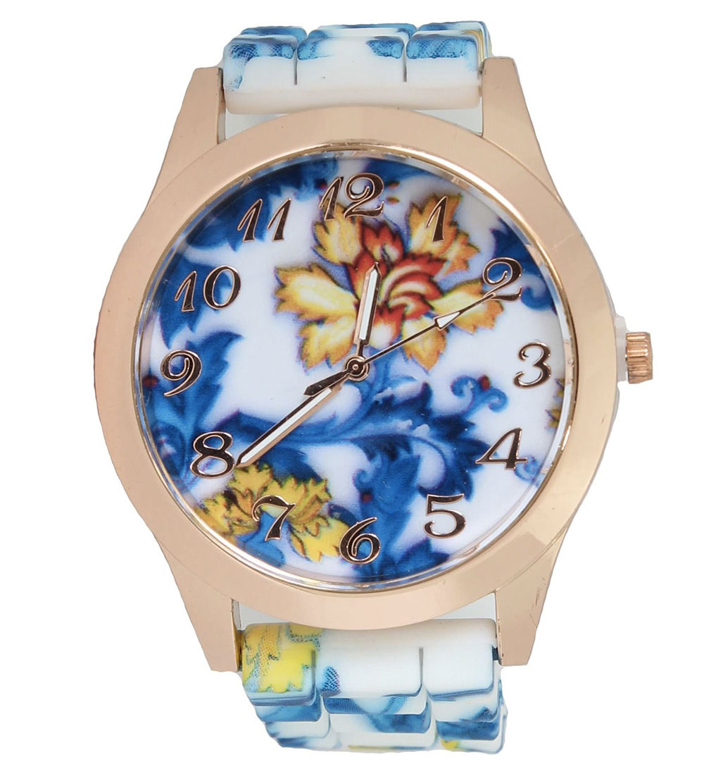 floral accessories watch