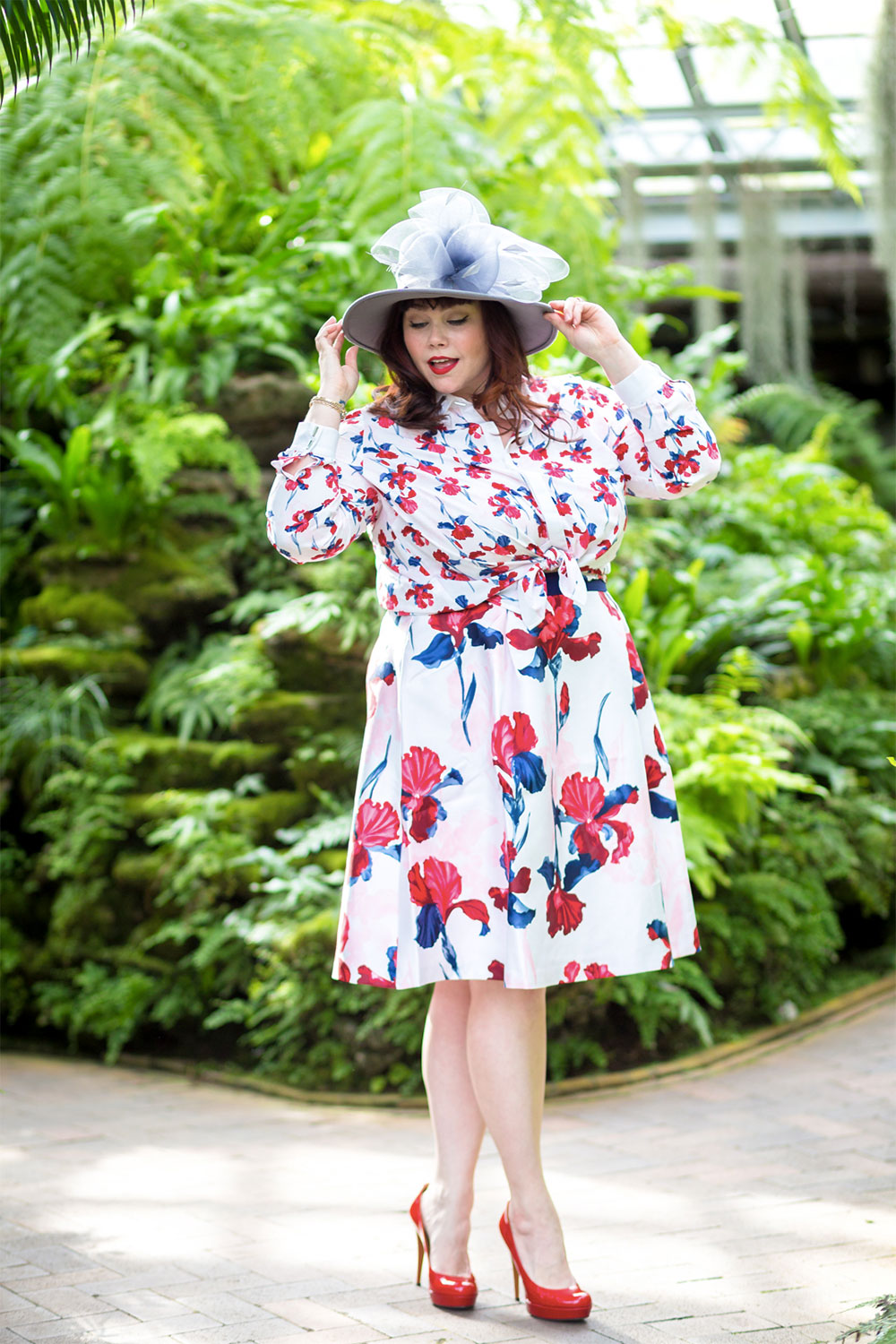 floral dress daily outfit
