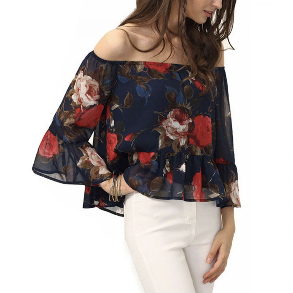 floral top daily outfit