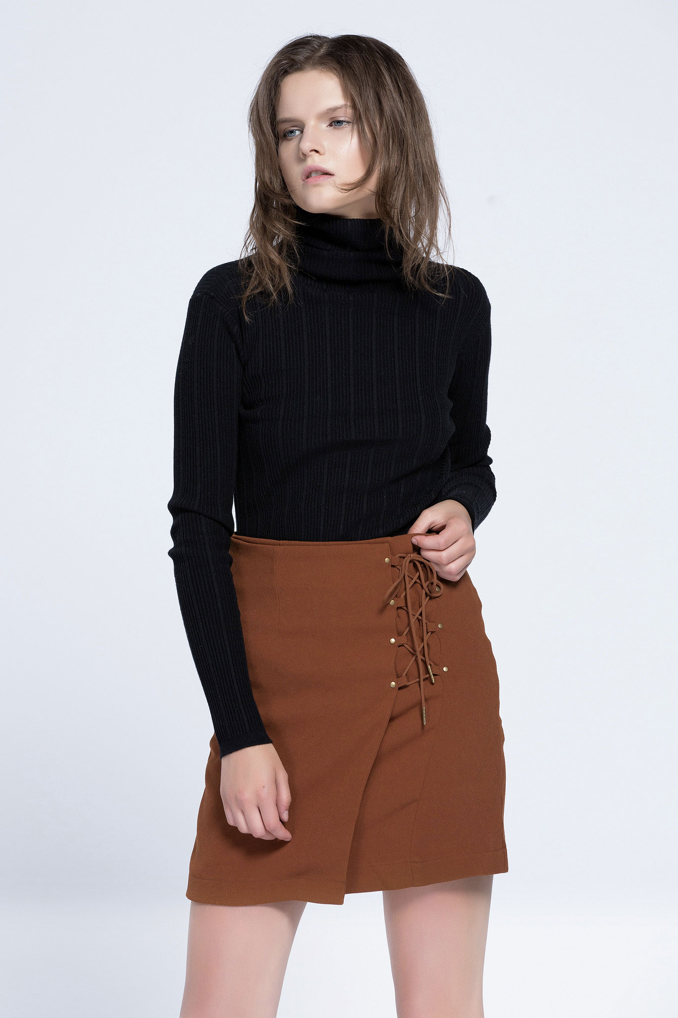 lace up miniskirt