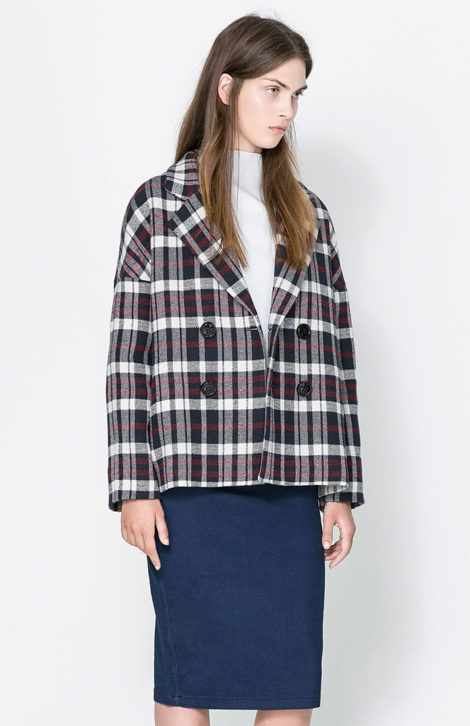 oversized checked blazer