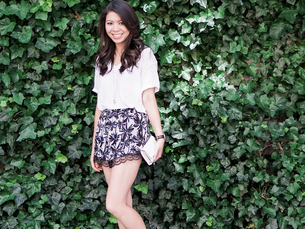 printed shorts outfits