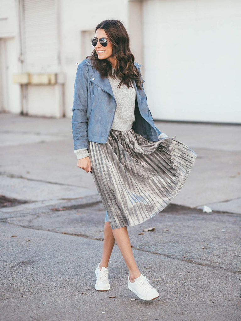 shabby skirt sneakers
