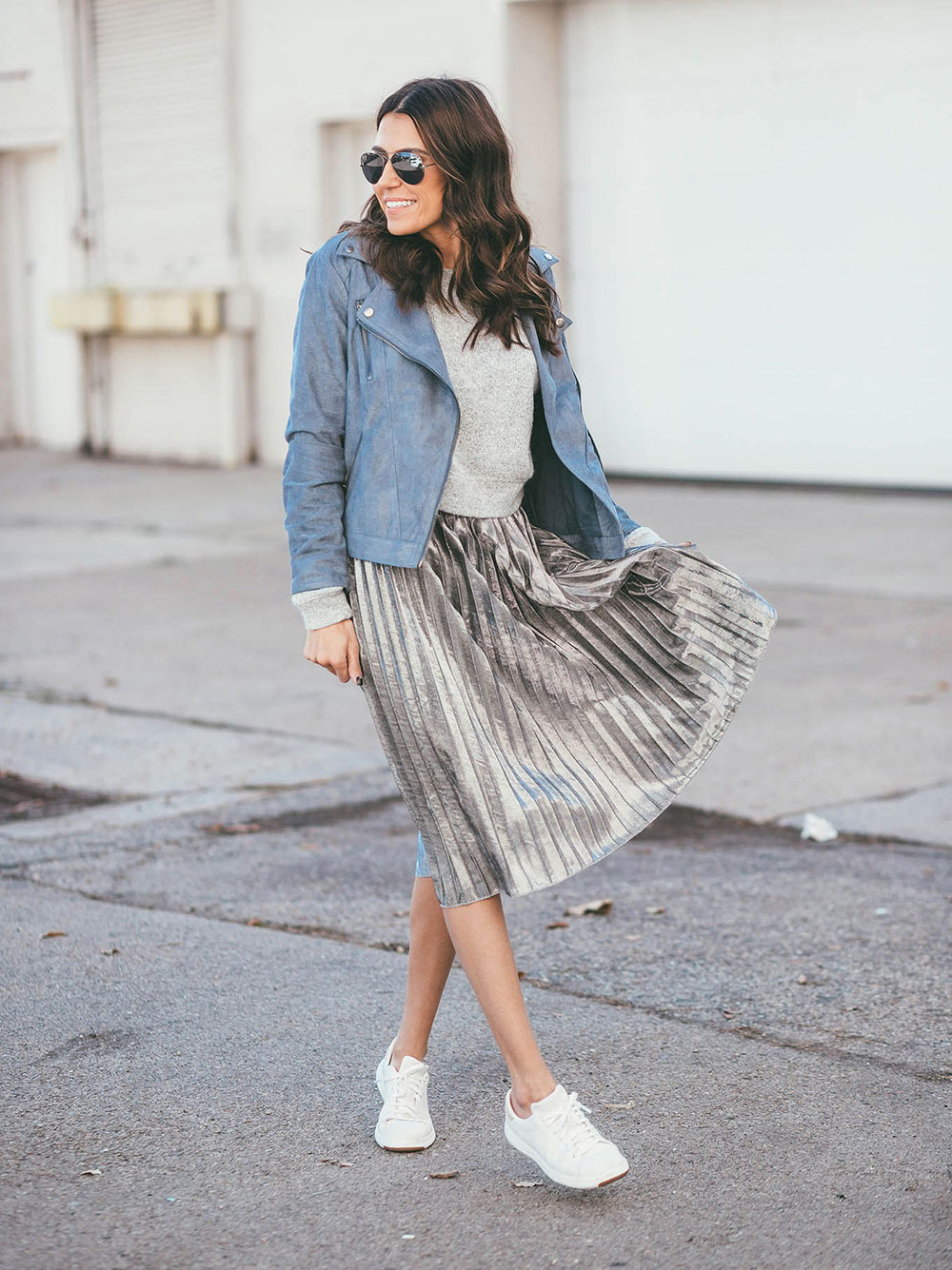 shabby skirt sneakers