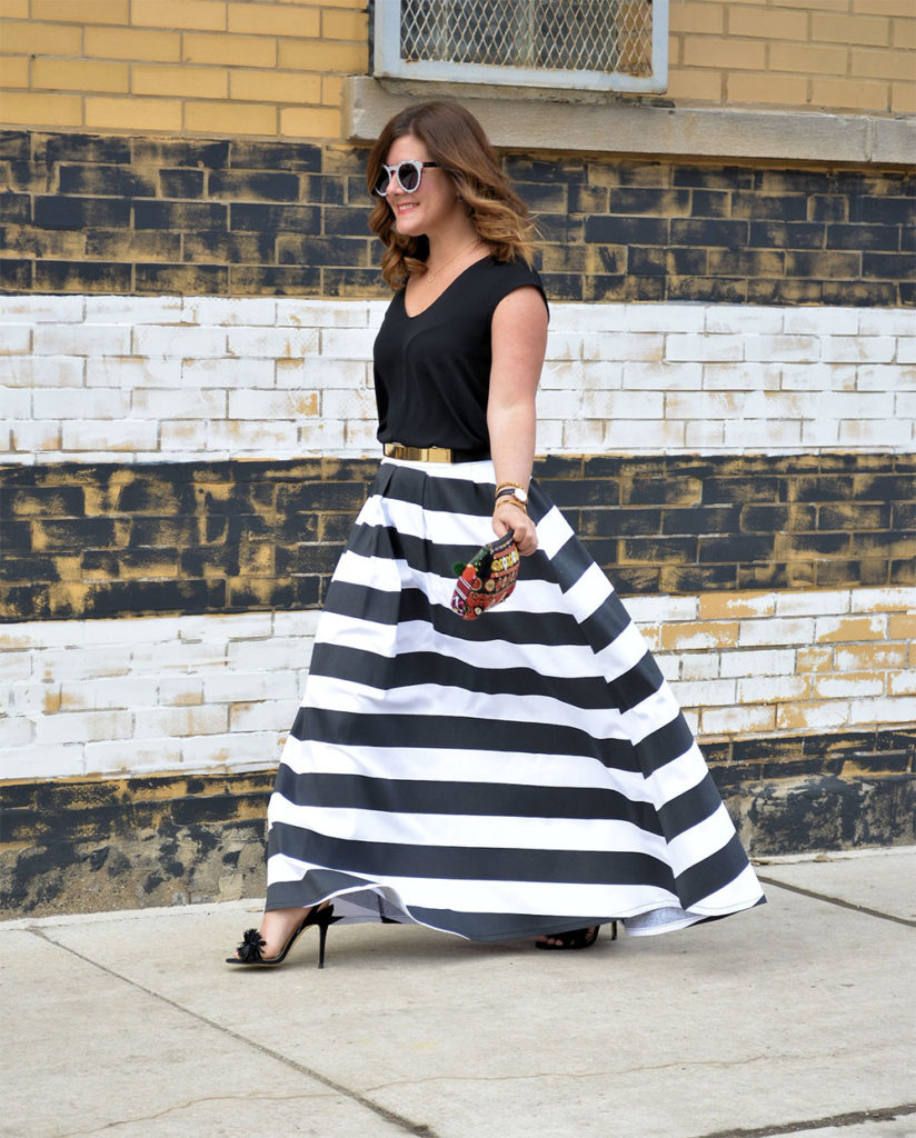 shabby skirt stripes