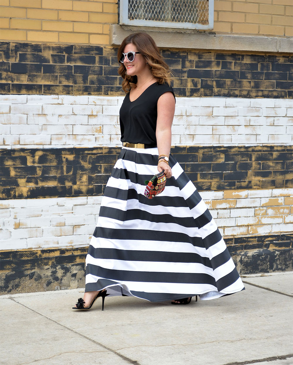shabby skirt stripes