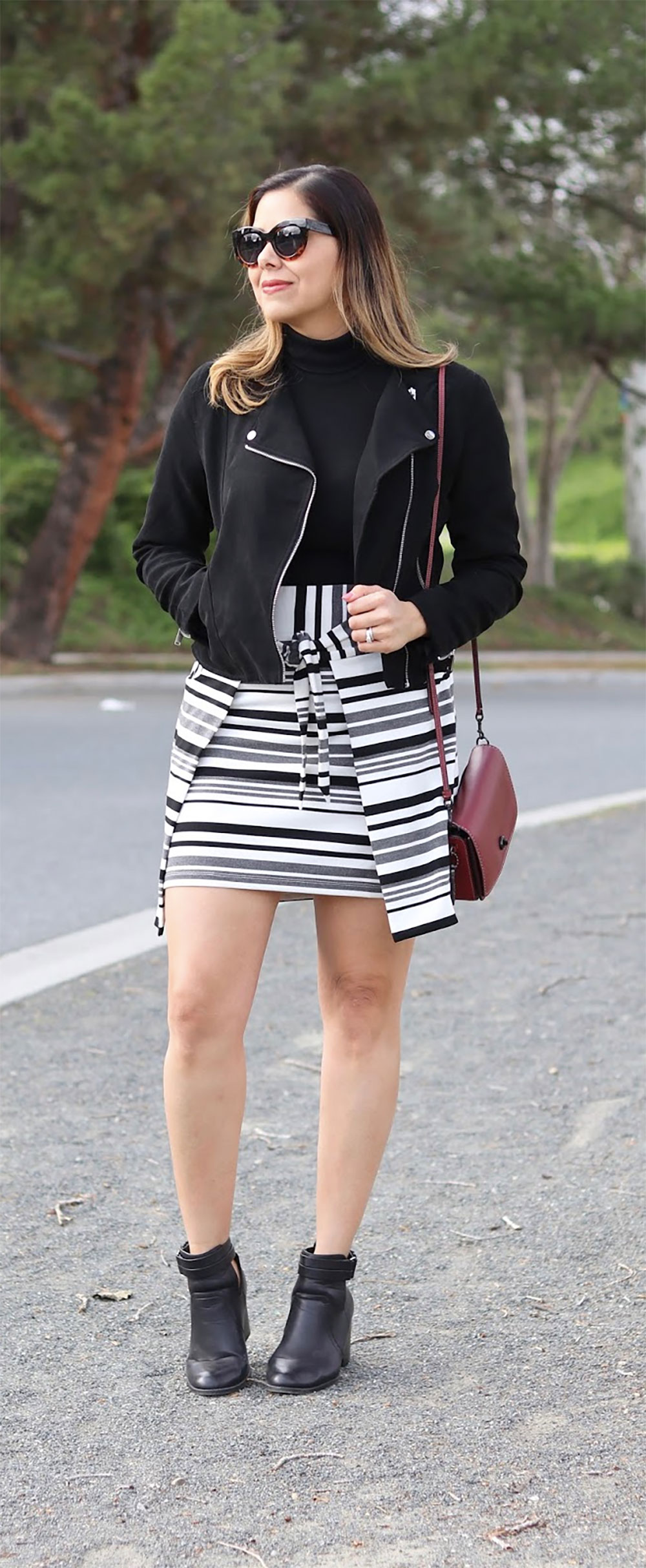 statement stripes daily outfit