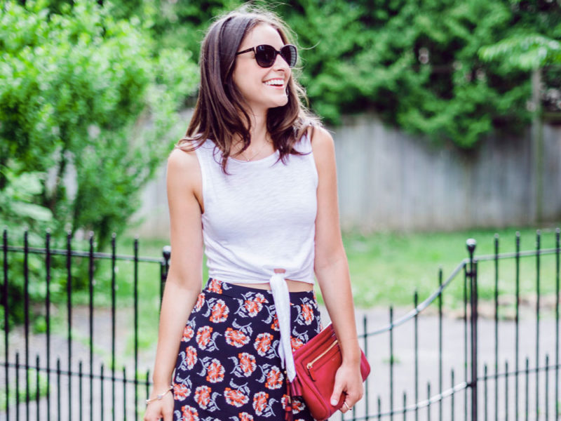 tie frony outfit ideas