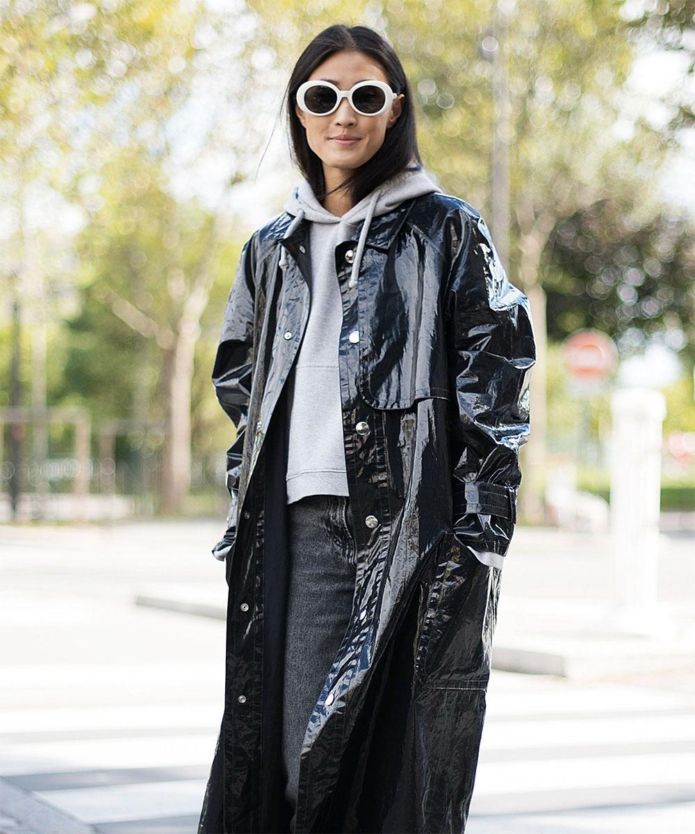 vinyl long jacket