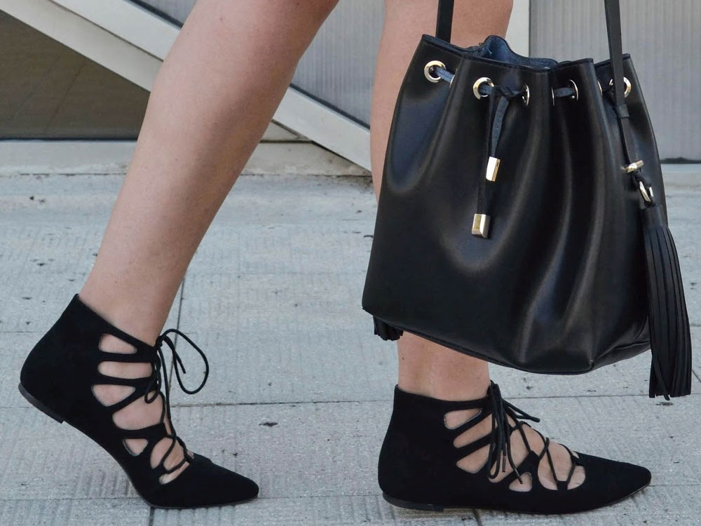 ballerina shoes outfit ideas