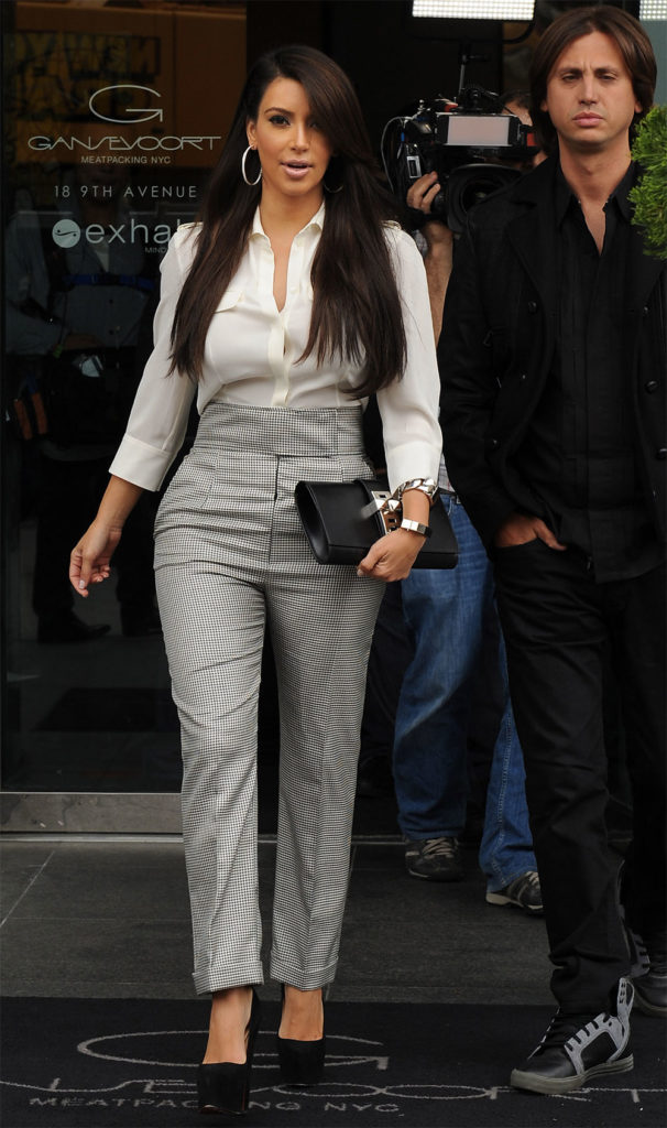 kim kardashian high waisted jeans