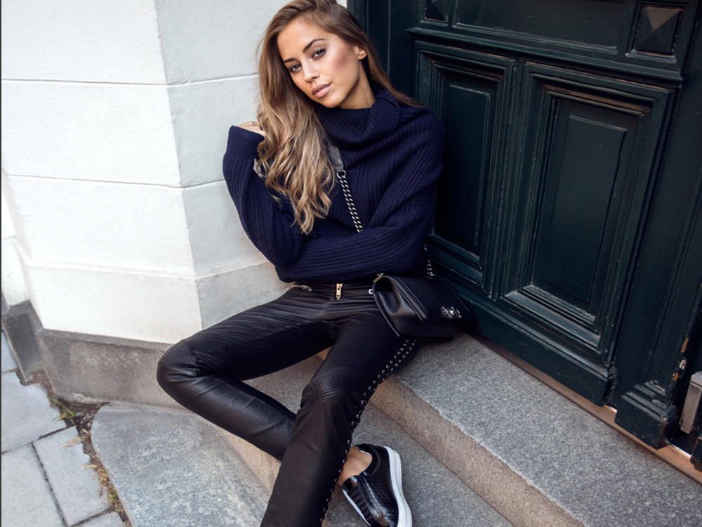 leather trousers outfit ideas
