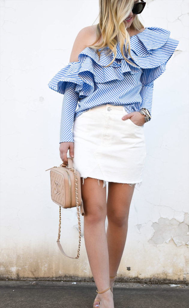mini skirt outfit
