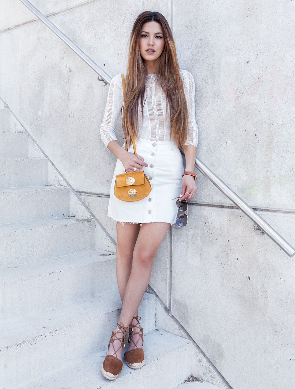 skirt and espadrilles