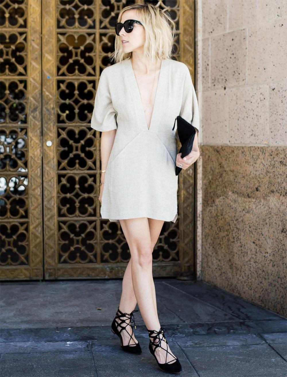 v neck dress outfit