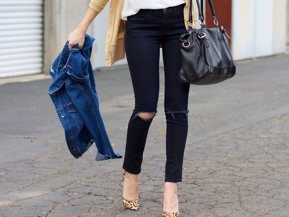 black jeans outfit ideas