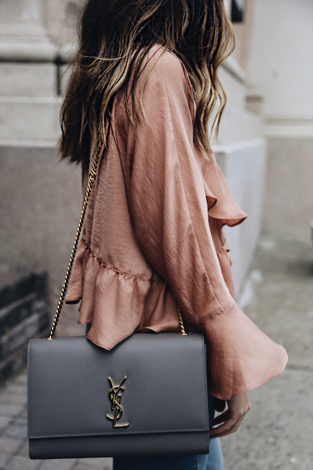 chained bags outfit