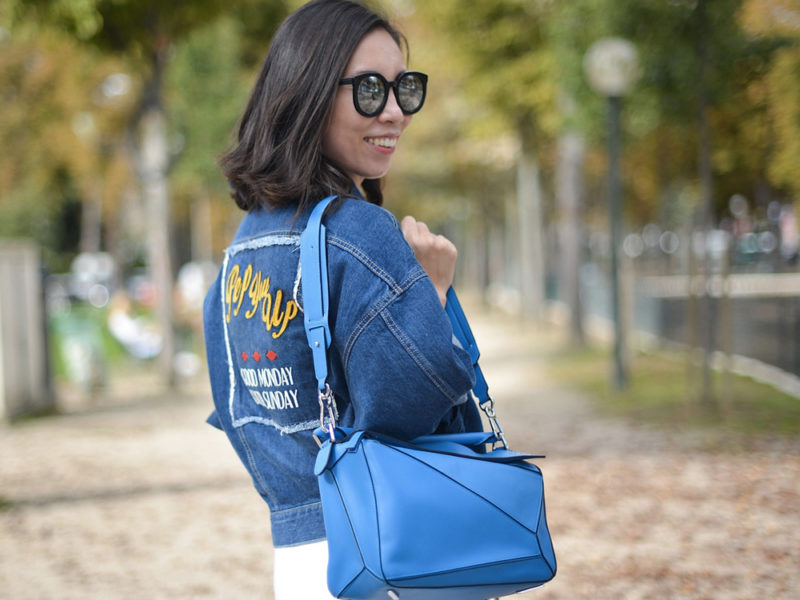 embroidered denim jacket outfit