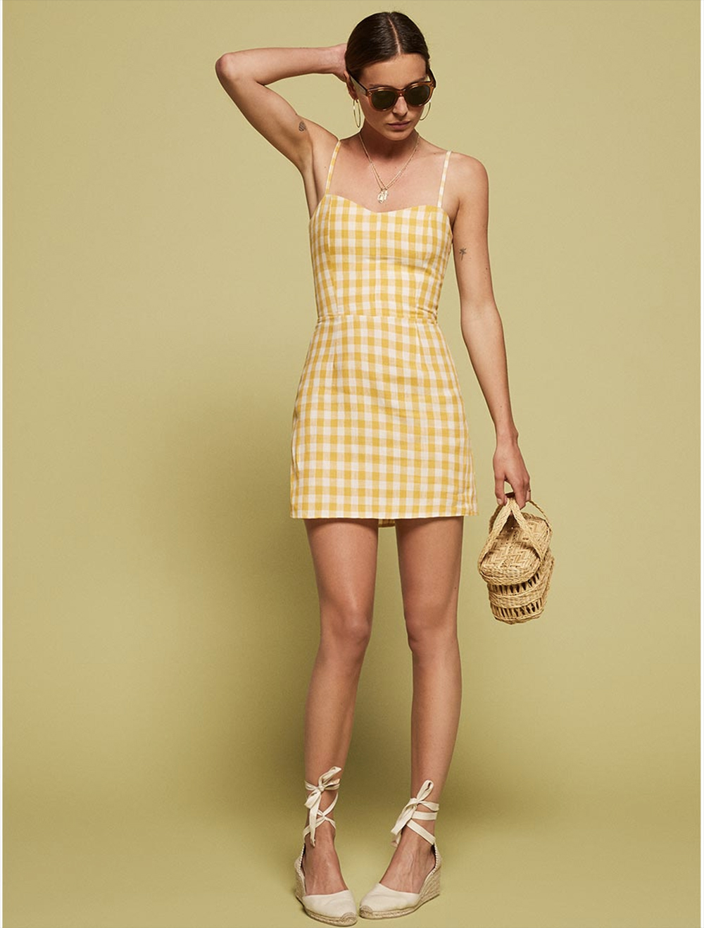 gingham audrey dress