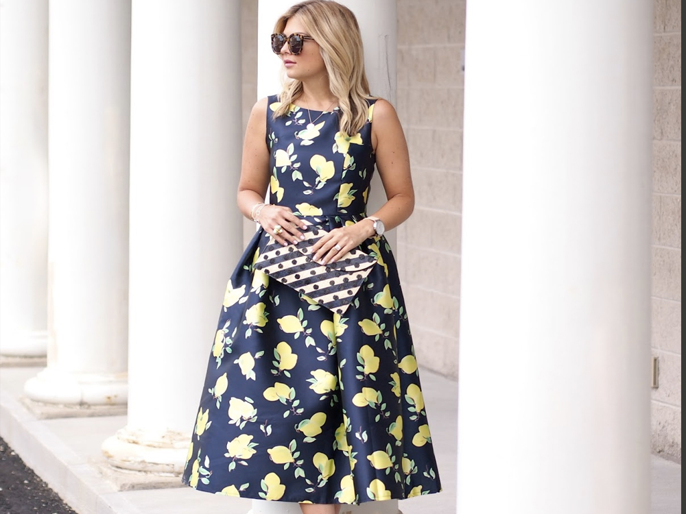 lemon print daily outfit