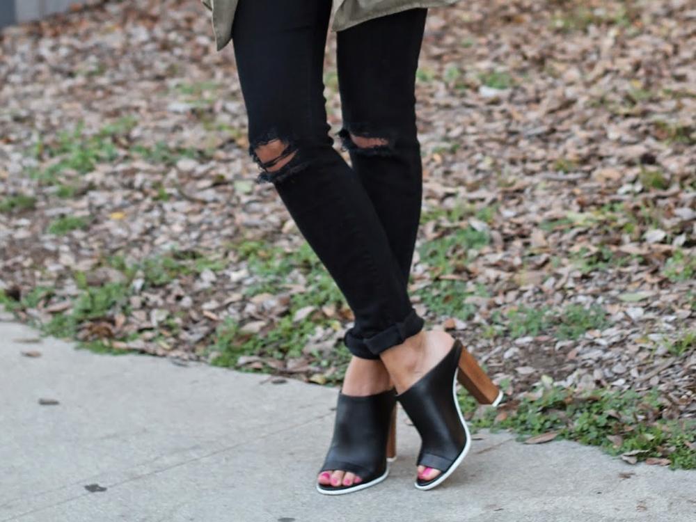 mule shoes outfit ideas
