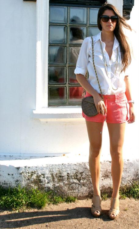 peach colored shorts