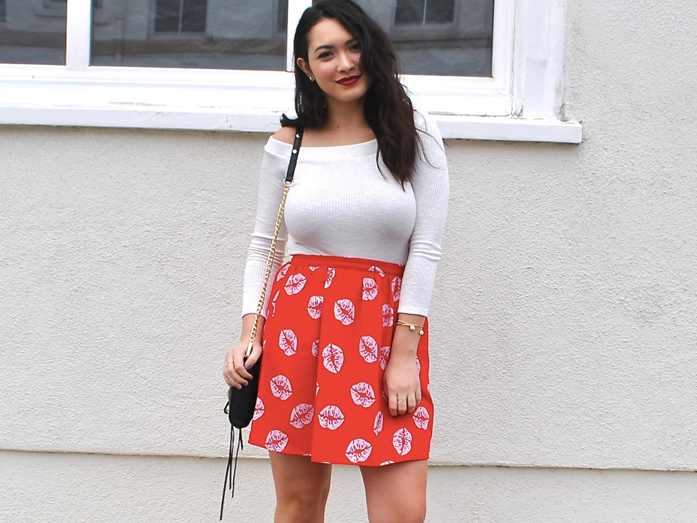 red daily outfit