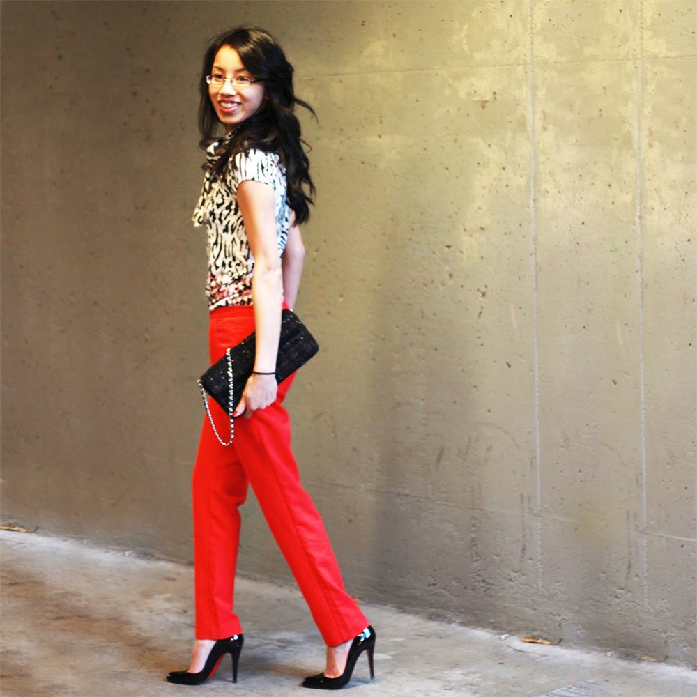 Red pants outfit ideas