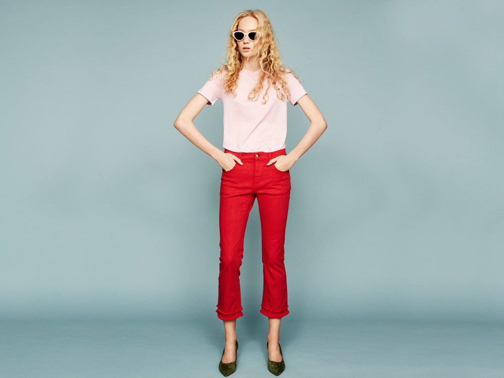 red trousers outfits