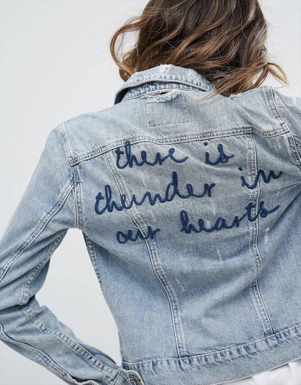 slogan jacket
