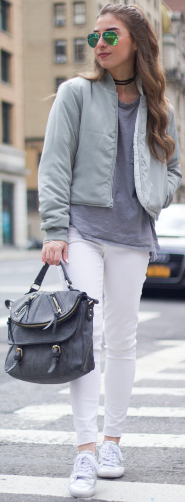 white athleisure outfit
