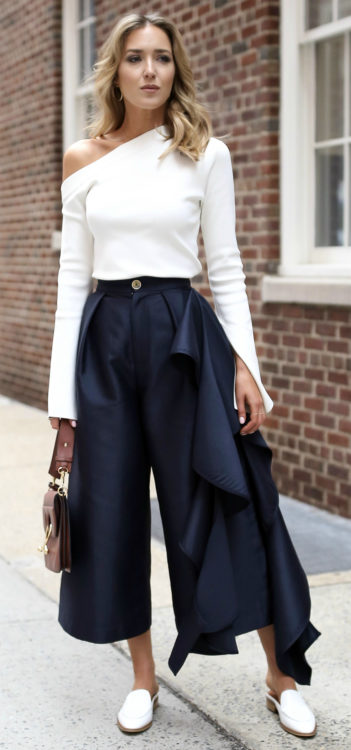 asymmetrical outfit