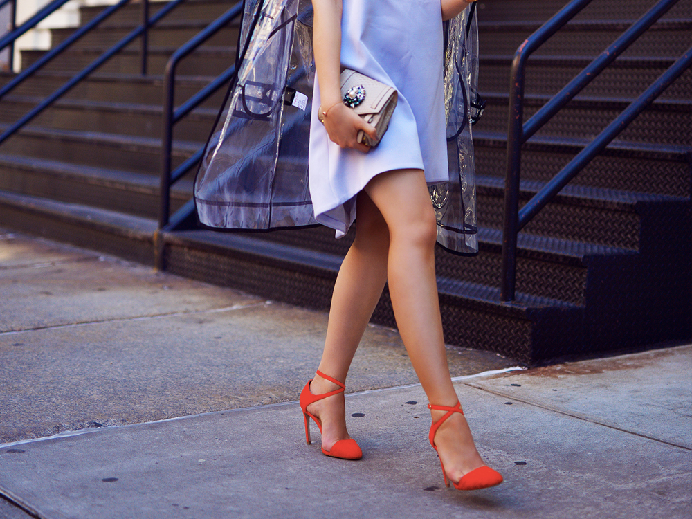 colorful heels outfit