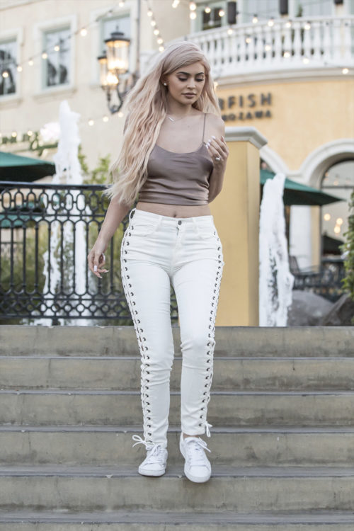 laced jeans outfit