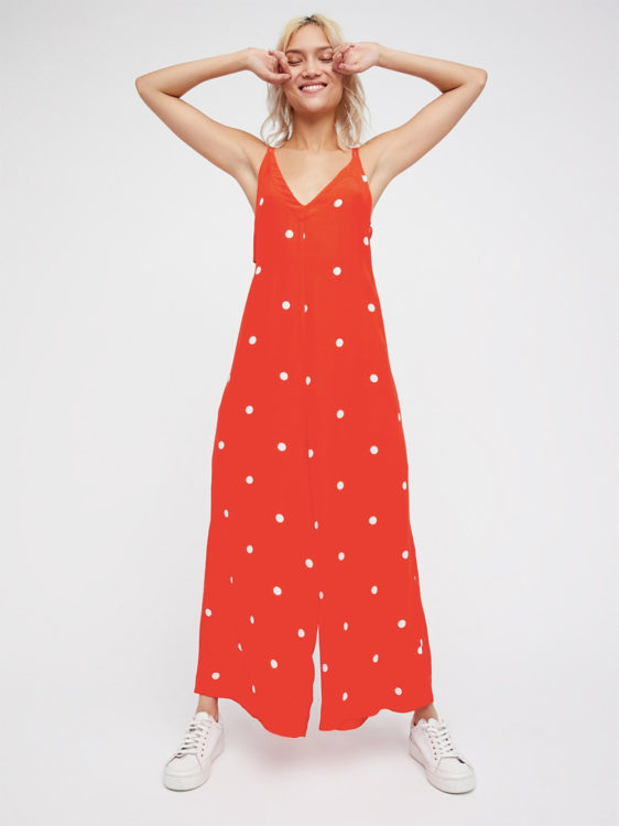 polka dress outfit